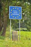Grenze von Deutschland Lizenzfreie Stockfotos