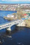 Grenze von Estland und von Russland Stockbild