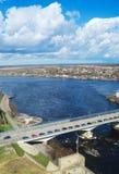 Grenze von Estland und von Russland Stockfoto