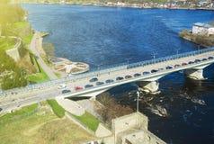 Grenze von Estland und von Russland Lizenzfreies Stockfoto