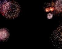Grenze von Feuerwerken Stockbild