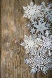 Grenze von Weihnachtsschneeflocken Lizenzfreie Stockfotografie