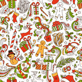 Grenzeloos Grappig Kerstmisbehang stock illustratie