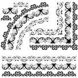 Grenzen, decoratieve bloemenelementen Royalty-vrije Stock Afbeelding