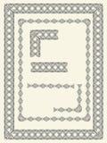 Grenzen en frame elementen Stock Afbeelding