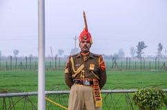 Grenzepakistans Indien Wagha-Grenze Lahore Pakistan an Stockfoto