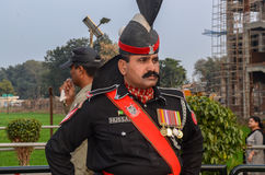 Grenzepakistans Indien Wagha-Grenze Lahore Pakistan Stockfoto