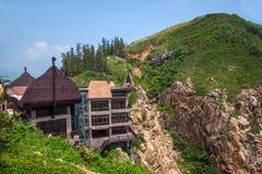 Grenzinsel Lingshui-Ansicht-Hai Ting-Restaurant Lizenzfreie Stockbilder