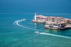 Grenzinsel Lingshui-Jachthafen Stockbild