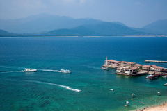 Grenzinsel Lingshui-Jachthafen Lizenzfreies Stockbild