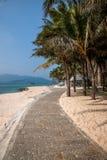 Grenzinsel Lingshui-Kokosnussspur Stockfotos