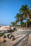 Grenzinsel Lingshui-Kokosnussspur Stockbilder