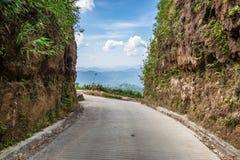 Grenzklippenberg Fahrwegthailands Myanmar Stockbild