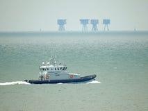 Grenzkraft, die Kent-Küste patrouilliert Stockfoto