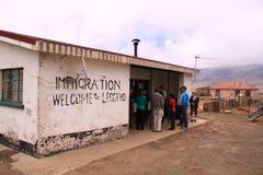 Grenzsicherheit Lesotho Lizenzfreies Stockbild