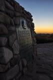 Grenzstein bei Kap Agulhas - Africa& x27; südlichster Punkt s Stockfotografie