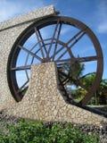 Grenzstein in Montego Bay stockbilder