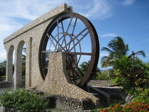 Grenzstein in Montego Bay stockfotos