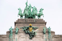 Grenzstein von Brüssel lizenzfreie stockbilder