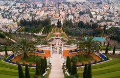 Grenzstein von Haifa Stockfotografie