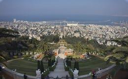Grenzstein von Haifa stockfotos