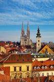 Grenzsteine von Zagreb stockfotografie