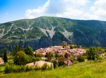 Greolieres village Royalty Free Stock Photo