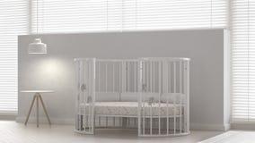 Greppia del bambino, interior design illustrazione di stock