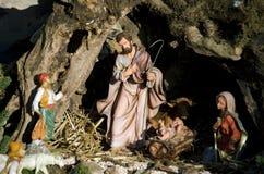 Greppia italiana di Natale Immagine Stock
