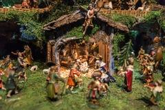 Greppia storica di Natale Fotografia Stock Libera da Diritti