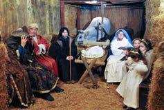 Greppia vivente di Natale in Italia fotografia stock libera da diritti