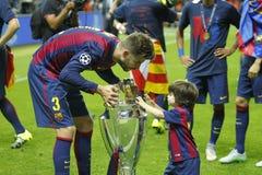 Grerard Piqué FC Barcelone Arkivfoton