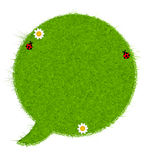 Gresh green grass speech bubble. Vector Stock Photography