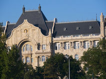 Gresham大厦在布达佩斯匈牙利 免版税库存图片