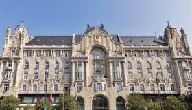 Gresham宫殿在布达佩斯,匈牙利 免版税图库摄影