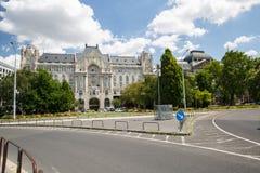 Gresham宫殿,脱离建筑学在布达佩斯,修建在190 库存图片