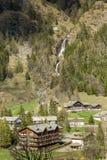 Gressoney Aosta Valley Arkivfoton