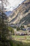 Gressoney, das Aostatal Stockbild