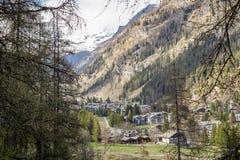 Gressoney, das Aostatal Lizenzfreies Stockfoto