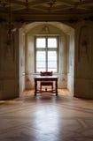 GRESSONEY, ITALIA - 6 de enero: Interior del castillo Savoia Fotografía de archivo