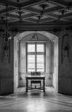 GRESSONEY, ITALIA - 6 de enero: Interior del castillo Savoia Fotos de archivo libres de regalías