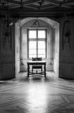GRESSONEY, ITALIA - 6 de enero: Interior del castillo Savoia Imagen de archivo libre de regalías