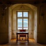 GRESSONEY ITALIEN - Januari 6th: Inre av slotten Savoia Royaltyfria Foton