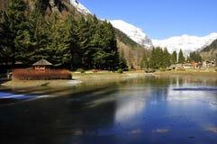 gressoney krajobrazowy s Fotografia Stock