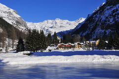 Gressoney Saint Jean Royalty Free Stock Photo