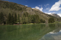 Gressoney Saint Jean's Lake Stock Photos