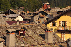 Gressoney village, Aosta Valley. Stock Photography