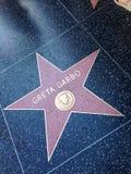 Greta Garbo Hollywood spacer sławy gwiazda obraz stock