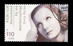 Greta Garbo na znaczku pocztowym zdjęcie stock