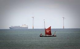 The greta sailing barge Stock Photo